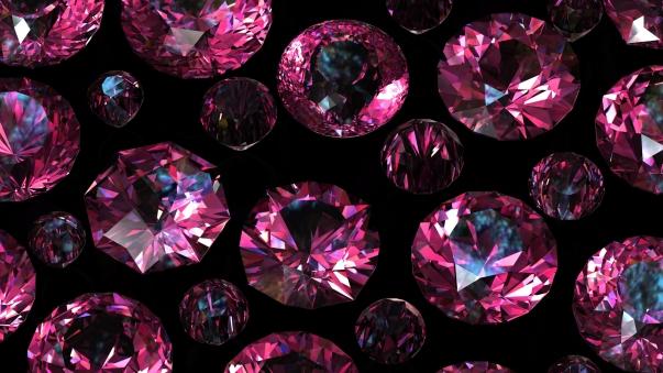 Set of round diamond. Gemstone